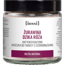 IOSSI Żurawina Dzika Róża - Antyoksydacyjna maseczka z czerwoną glinką, 120 ml