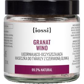 IOSSI Granat Wino - Ujędrniająco - oczyszczająca maseczka z czerwoną glinką, 120 ml