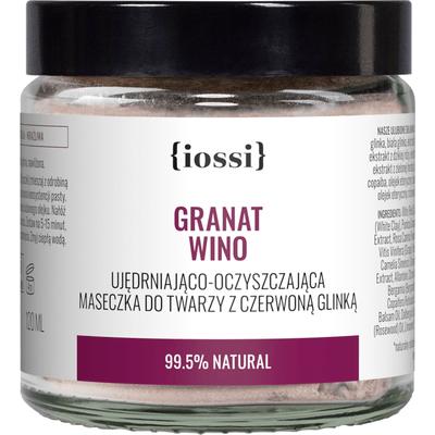 Granat Wino - Ujędrniająco - oczyszczająca maseczka z czerwoną glinką IOSSI