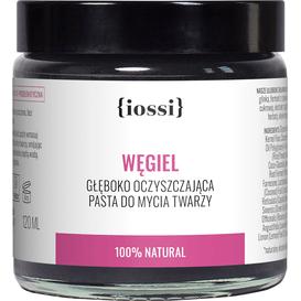 IOSSI Węgiel - Oczyszczająca pasta do mycia twarzy, 120 ml