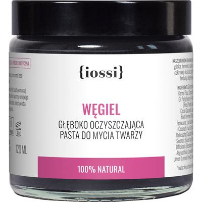Węgiel - Oczyszczająca pasta do mycia twarzy IOSSI