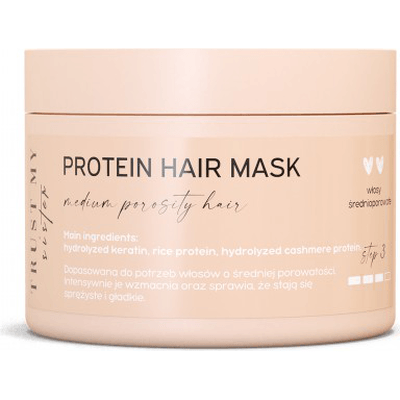 Proteinowa maska do włosów średnioporowatych Trust My Sister