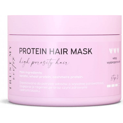 Proteinowa maska do włosów wysokoporowatych Trust My Sister