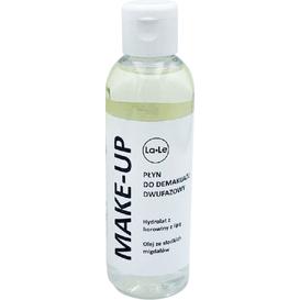 La-Le Kosmetyki Płyn do demakijażu dwufazowy - Hydrolat borowina z lipą i olej ze słodkich migdałów, 100 ml