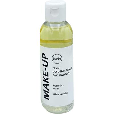 Płyn do demakijażu dwufazowy - Hydrolat z malin i olej z bawełny La-Le Kosmetyki