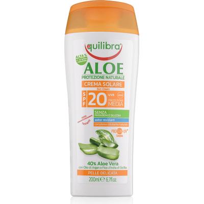 Aloesowy krem przeciwsłoneczny SPF 20+ Equilibra