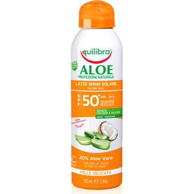 Aloesowe mleczko do opalania w sprayu SPF 50+ Equilibra