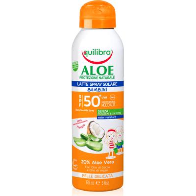 Mleczko do opalania w sprayu dla dzieci SPF 50+ Equilibra