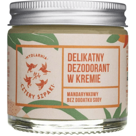 Mydlarnia Cztery Szpaki Delikatny dezodorant  w kremie - Mandarynkowy, bez dodatku sody, 60 ml