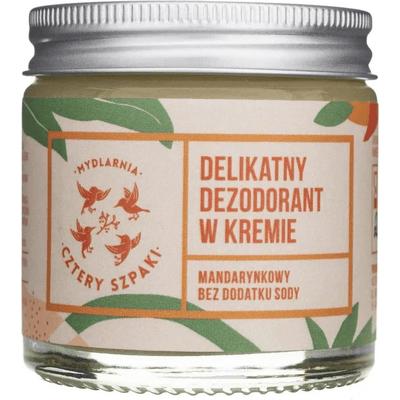 Delikatny dezodorant  w kremie - Mandarynkowy, bez dodatku sody Mydlarnia Cztery Szpaki
