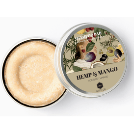Herbs&Hydro Szampon w kostce - Konopie z Mango - puszka, 55g