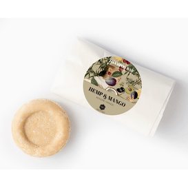 Herbs&Hydro Szampon w kostce - Konopie z Mango - refill, 55g