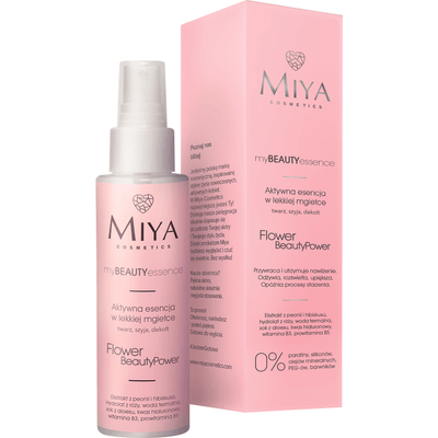 FLOWER BeautyPower - Aktywna esencja do twarzy - róża, peonia, hibiskus Miya