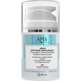 APIS Krem aktywnie nawilżający z minerałami z Morza Martwego i kwasem hialuronowym, 30 ml