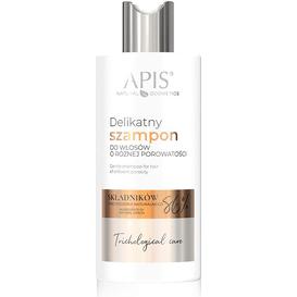 APIS Delikatny szampon do włosów o różnej porowatości Trichological Care, 300 ml