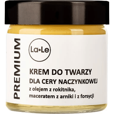 Krem do twarzy dla cery naczynkowej z olejem z rokitnika La-Le Kosmetyki