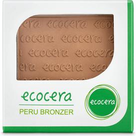 Ecocera Matowy puder brązujący prasowany bronzer - Peru, 10 g
