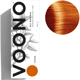 VOONO Henna premium - Copper - Naturalna, 100 g