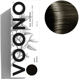 VOONO Henna premium - Soft black - Miękka czerń, 100 g