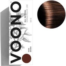 VOONO Henna premium - Dark brown - Ciemny brąz, 100 g