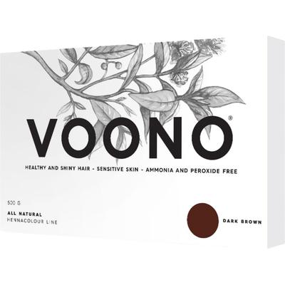 Henna premium - duże opakowanie - Dark brown - Ciemny brąz VOONO