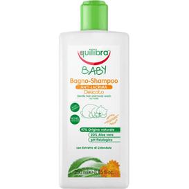 Equilibra Łagodny szampon aloesowy do ciała i włosów dla dzieci 0m+, 250 ml