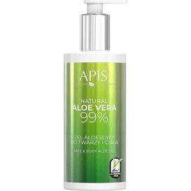 APIS NATURAL ALOE VERA 99% żel aloesowy do twarzy i ciała, 300 ml