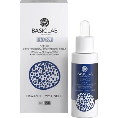 Serum z 15% trehalozą i 10% peptydem SNAP-8 - nawilżenie i wypełnienie BasicLab