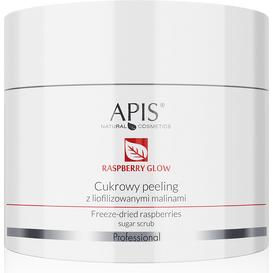 APIS Cukrowy peeling z liofilizowanymi malinami - Raspberry Glow, 220 g