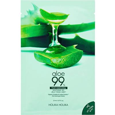 Aloesowa maseczka do twarzy w płachcie - Aloe 99% Soothing Gel Gelee Holika Holika