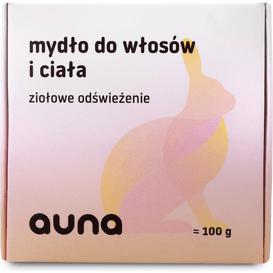 Auna Szampon wegański w kostce - mydło do włosów, 100 g