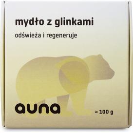 Auna Mydło wegańskie z glinkami, 100 g