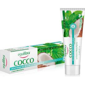 Equilibra Kokosowa pasta do zębów - Naturalna Biel, 75 ml