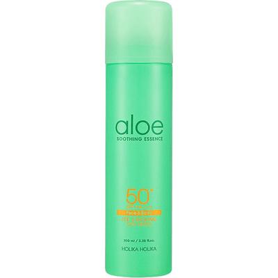 Aloesowa esencja do ciała SPF 50 PA ++++ - Aloe Soothing Essence Ice Cooling Sun Spray Holika Holika
