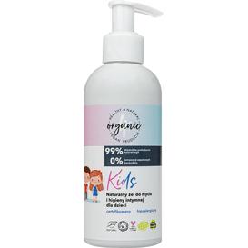 4organic Active Organic - Naturalny żel do mycia i higieny intymnej dla dzieci - Kids, 200 ml
