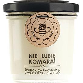 Miodowa Mydlarnia Świeca sojowa - Nie lubię komara, 120 ml