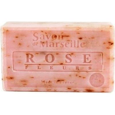 Mydło marsylskie z olejem ze słodkich migdałów - Płatki róży Le Chatelard