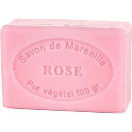 Le Chatelard Mydło marsylskie z olejem ze słodkich migdałów - Róża, 100 g