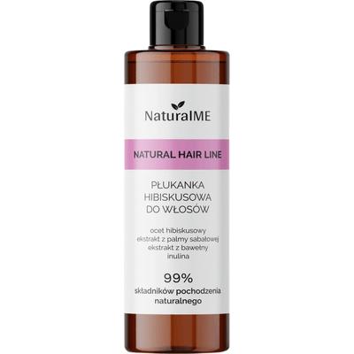 Płukanka do włosów z octem hibiskusowym - przeciwłupieżowa NaturalMe