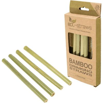 Ecostrawz - Bambusowe wielorazowe słomki do picia, 4 sztuki Produkty less waste