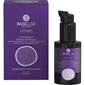 BasicLab Stymulujący peeling kwasowy - ujędrnienie i wygładzenie, 30 ml