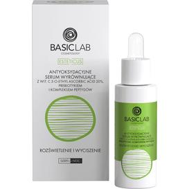 BasicLab Antyoksydacyjne serum wyrównujące z 20% wit.C - rozświetlenie i wyciszenie, 30 ml