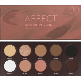 AFFECT Paleta cieni prasowanych - Pure Passion, 10 cieni szt.
