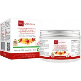 GoCranberry Intensywnie regenerująca maska do włosów z proteinami pszenicznymi i olejem żurawinowym, 200 ml