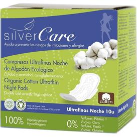 Masmi Ultracienkie podpaski na noc ze skrzydełkami - Soft - Silver Care, 10 szt.