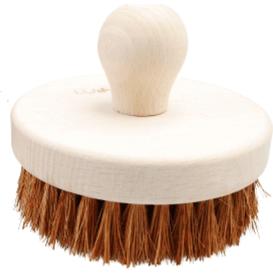 Lullalove Okrągła szczotka do szczotkowania ciała - kokos