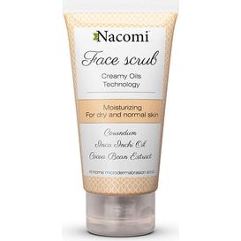 Nacomi Nawilżający peeling do twarzy z korundem i olejem z migdałów, 85 ml