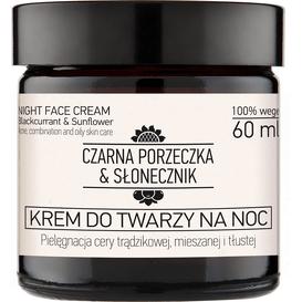 Czarna porzeczka & Słonecznik Krem do twarzy na noc do cery trądzikowej i mieszanej, 60 ml