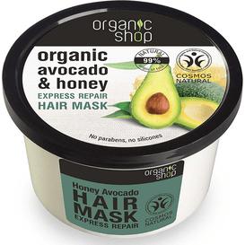 Organic Shop Regenerująca maska do włosów - awokado i miód, 250 ml