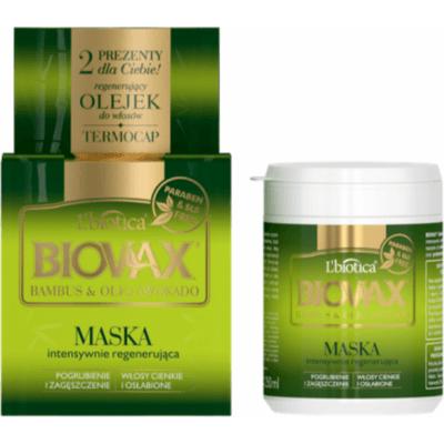 Regenerująca maska do włosów - Bambus i olej avocado Lbiotica